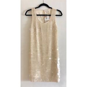 100% Silk sequin Club Monaco mini dress Size 00 🐚